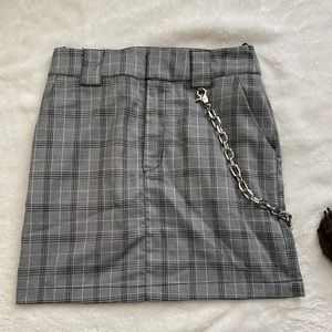 Plaid chain skirt